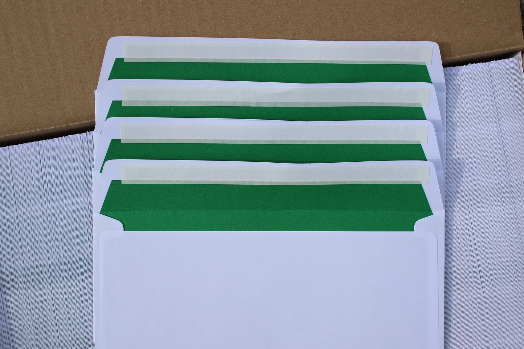 Sonderanfertigung - Kuverts in Hausfarbe